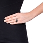 Style Drops Gun Plated Ring -
