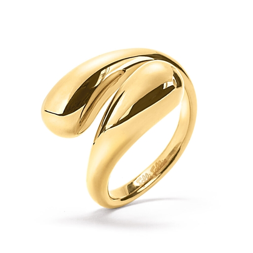 Style Drops Yellow Gold Plated Ring -