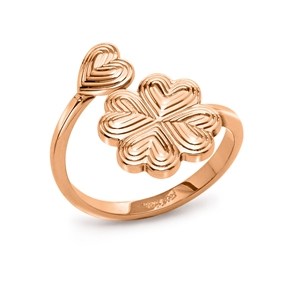 Heart4Heart Blossom Rose Gold Plated Ring-