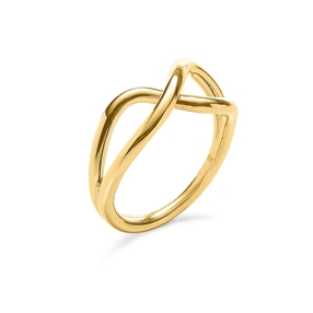 Fluidity 18k Yellow Gold Plated Brass Ring-