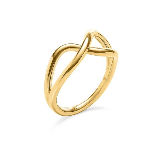 Fluidity 18k Yellow Gold Plated Brass Δαχτυλίδι-