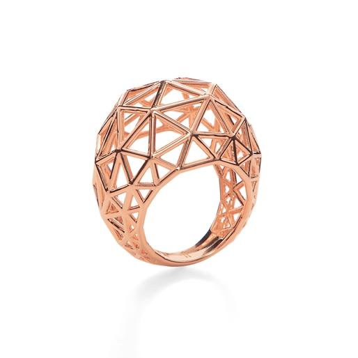 Stylesphere 18k Rose Gold Plated Brass Δαχτυλίδι-