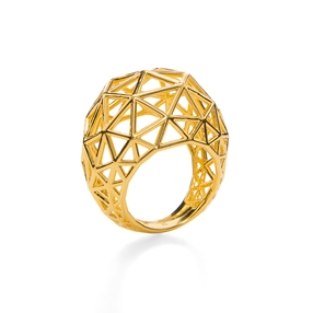 Stylesphere 18k Yellow Gold Plated Brass Δαχτυλίδι-