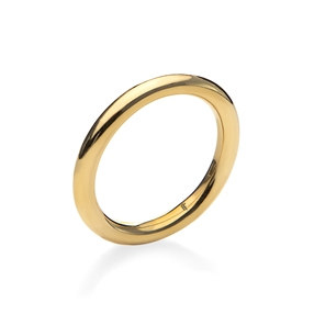 Bi-Metal Chic 18K Yellow Gold Plated Brass Δαχτυλίδι-