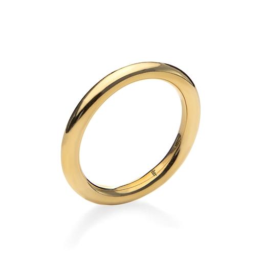 Bi-Metal Chic 18K Yellow Gold Plated Brass Δαχτυλίδι-