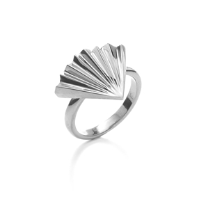 Pleats Bliss Silver Plated Brass Δαχτυλίδι-