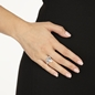 Pleats Bliss Silver Plated Brass Ring-