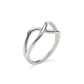 Fluidity Silver Plated Brass Δαχτυλίδι-