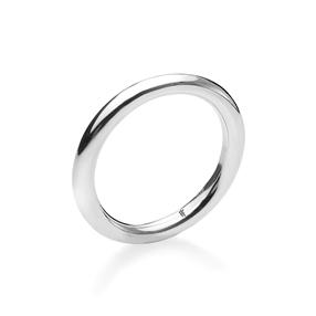 Bi-Metal Chic Silver Plated Brass Δαχτυλίδι-