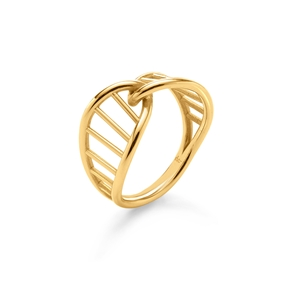 Style DNA Silver 925 18k Yellow Gold Plated Δαχτυλίδι-