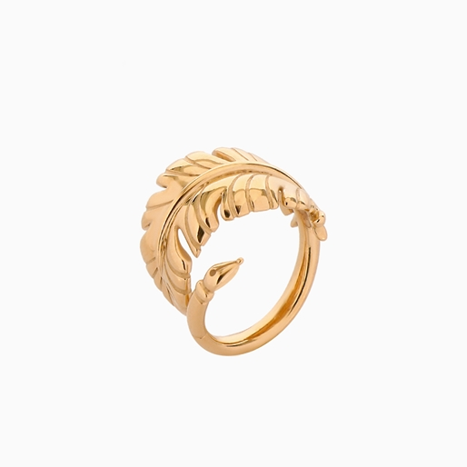 Historia Silver 925° Ring With 18K Yellow Gold Plating-