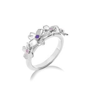 The Dreamy Flower silver 925° ring with flowers motif-