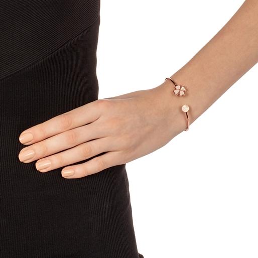 Heart4Heart Chroma Silver 925 Rose Gold Flash Plated Bangle Bracelet-