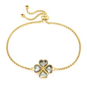 Heart4Heart Yellow Gold Plated Adjustable Bracelet-