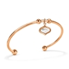Mod Princess Rose Gold Plated Bangle Bracelet