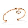 Mod Princess Rose Gold Plated Bangle Bracelet