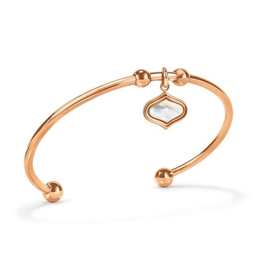 Mod Princess Rose Gold Plated Bangle Bracelet-