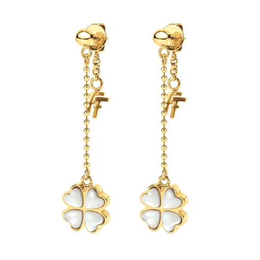 Heart4Heart Yellow Gold Plated Long Earrings-