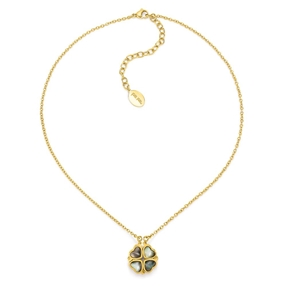 Heart4Heart Yellow Gold Plated Κοντό Κολιέ-