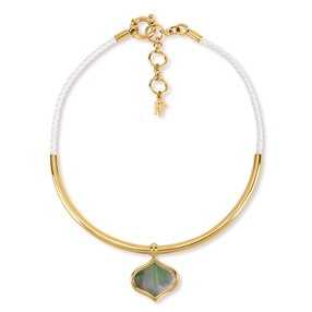 Mod Princess Yellow Gold Plated Collar Necklace-
