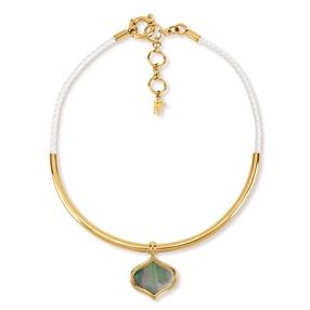 Mod Princess Yellow Gold Plated Collar Κολιέ-