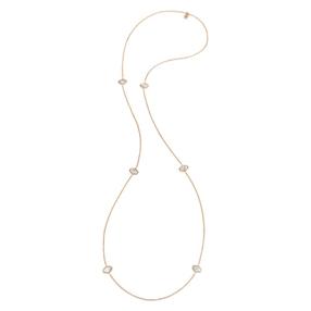 Mod Princess Rose Gold Plated Long Necklace-
