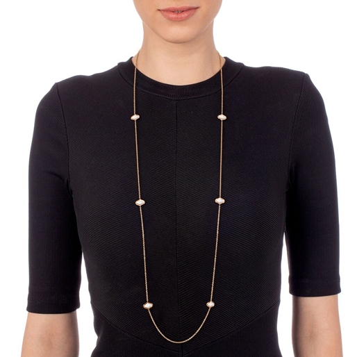 Mod Princess Rose Gold Plated Long Necklace-