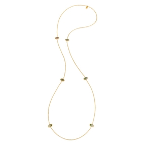 Mod Princess Yellow Gold Plated Long Necklace-