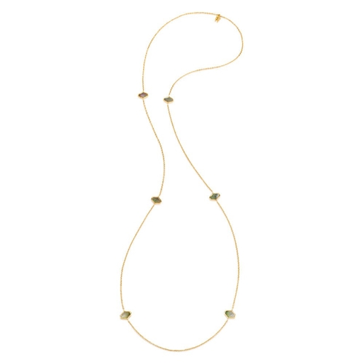 Mod Princess Yellow Gold Plated Long Necklace -