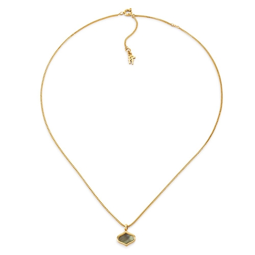 Mod Princess Yellow Gold Plated Short Necklace-