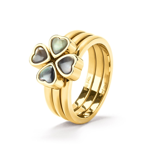 Heart4Heart Yellow Gold Plated Set Ring -