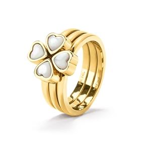 Heart4Heart Yellow Gold Plated Σετ Δαχτυλιδιών-