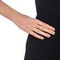 Mod Princess Rose Gold Plated Wide Ring-