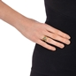 Mod Princess Yellow Gold Plated Wide Ring-