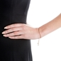 Fashionably Silver Essentials Rose Gold Plated Adjustable Bracelet-