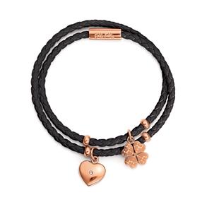 Heart4Heart Sweetheart Rose Gold Plated Bracelet-
