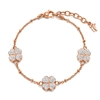 Heart4Heart Rose Gold Plated Pave Clear Crystal Stone Bracelet