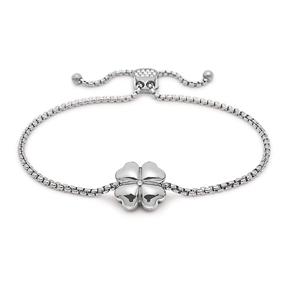 Heart4Heart Silver Plated Adjustable Bracelet-
