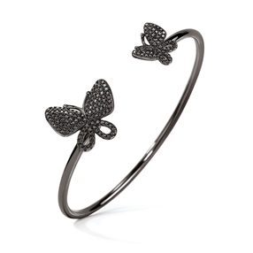 Wonderfly Black Flash Plated Cuff Bracelet-