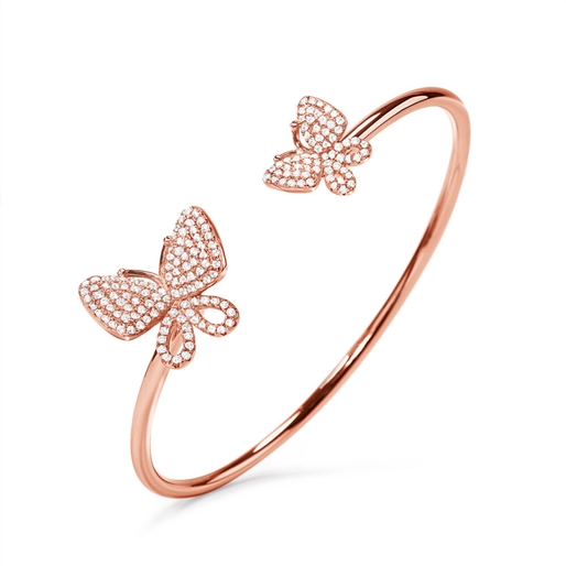 Wonderfly Rose Gold Plated Cuff Bracelet-