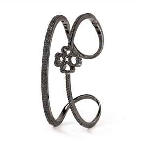 Miss Heart4Heart Black Flash Plated Cuff Bracelet-