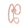 Miss Heart4Heart Rose Gold Plated Cuff Bracelet