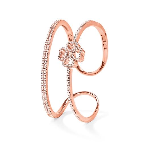 Miss Heart4Heart Rose Gold Plated Cuff Bracelet-