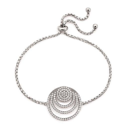 Cyclos Silver 925 Adjustable Bracelet-
