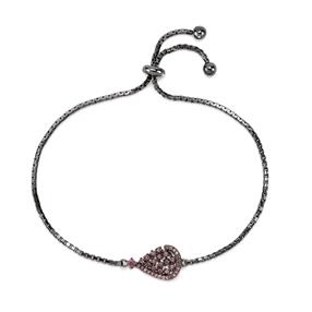 Sparkle Chic Black Flash Plated Bracelet-