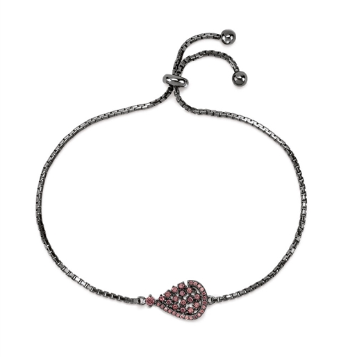 Sparkle Chic Black Flash Plated Bracelet-