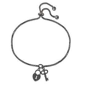 Charm Mates Black Flash Plated Bracelet-