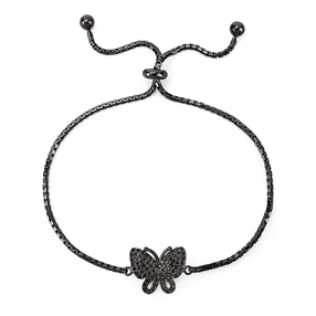 Wonderfly Black Flash Plated Adjustable Bracelet-