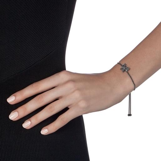Wonderfly Black Flash Plated Adjustable Bracelet-