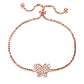Wonderfly Rose Gold Plated Adjustable Bracelet-